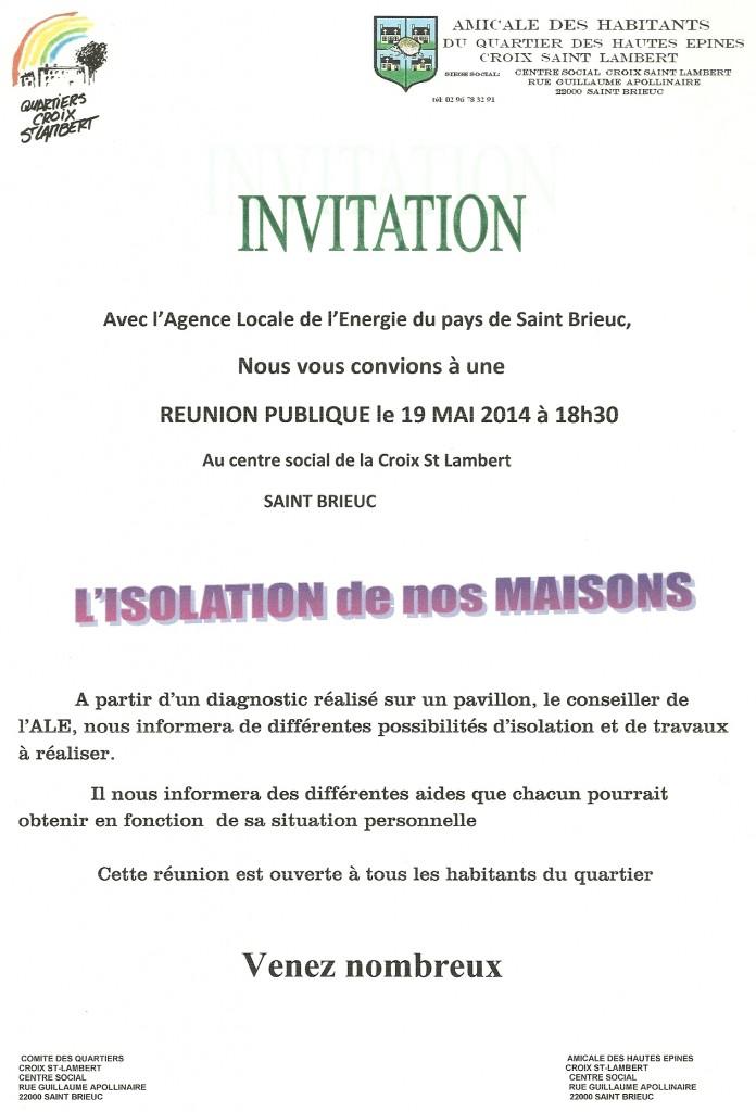 Réunion Publique A.L.E.
