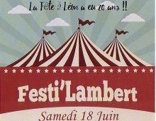 FESTI'LAMBERT LE 18 JUIN