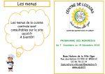 Programme du centre de loisirs de Novembre à décembre
